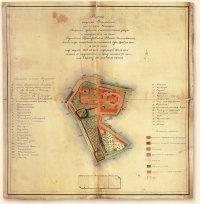 План обмера земли о. Столобного. 1856 - 1863 гг.