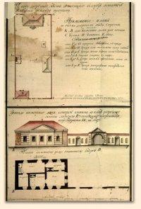 План подворья монастыря Нилова пустынь. Начало XIX века