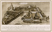 Гравюра - план монастыря. Начало XIX века