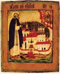 Икона преп. Нила столобенского. Конец XVIII века