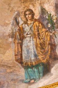Архангел Гавриил. Фрагмент росписи купола Богоявленского собора